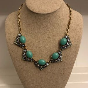 Stella & Dot Turquoise & Gold Rory Necklace